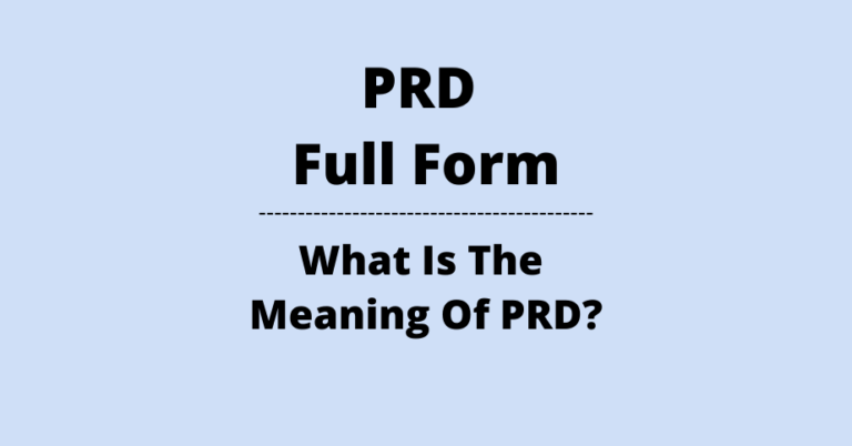 PRD Full Form What Is The Meaning Of PRD